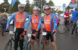 Mal (M) Fred Lyn (L) Andy Shearman (R) Stoke on Trent Prostate Cancer Charity Sportive 2011