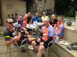 Seacroft Wheelers Intermediate Group at Washburn Heritage Centre, Fewston Reservoir. 3,293 feet of climbing today over 57.52 miles 16-08-2015
